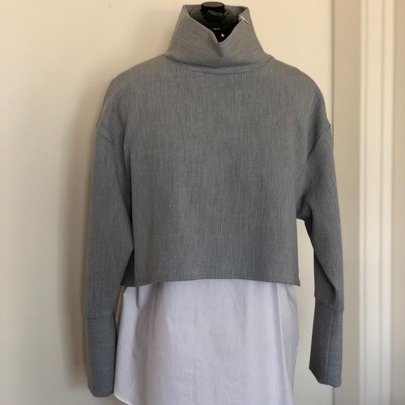 21c33ffa4b Zara Tops | Turtleneck Blouse With Zipper Shoulder | Poshmark
